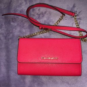 Red Michael Kors Shoulder Bag
